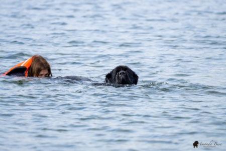 Amy & Kennedy (Swim with handler)